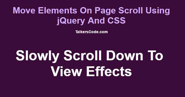 Move elements on page scroll using jquery and css - Jquery scroll to div ...